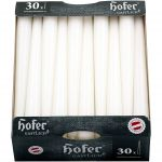 Hofer Conical Candles for candlesticks Set of 30 Candles Ø23x250mm 7h White #N400092300061