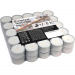 Hofer Premium Tealight Unscented Candles 8h 50Pcs White #N400092300120