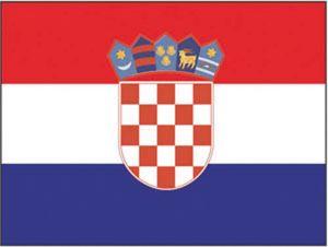 Bandiera Croazia 20X30cm #N30112503690