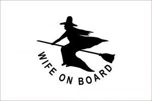 Wife on Board Flag 20X30cm #N30112503790