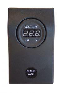 Plastic Panel with Digital Voltmeter 12/24V 60x100mm #N50669722605