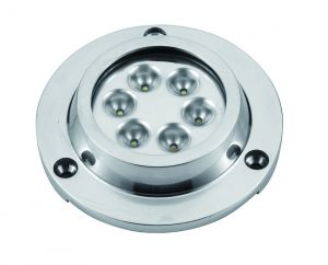 White LED Underwater light 6 x 3W 8-30V #FNI4000240