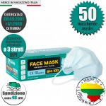 Mascherina DPI CE EN149:2001+A1:2009 Baltic Masks BM-100 Made in EU #N90056004602-50