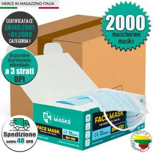 Mascherina DPI CE EN149:2001+A1:2009 Baltic Masks BM-100 Min 2000Pz #N90056004602-2000