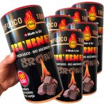 Kit Burner Brown Accendifuoco ecologico 600 Cubetti per Barbecue Stufe #N400092300306
