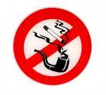 Relief No smoking sticker D.8cm #N31812621824