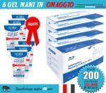 Pacchetto OFFERTA 200 Mascherine Chirurgiche + 6 Gel Igienizzanti in OMAGGIO #N90056004517