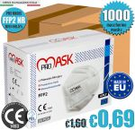 FFP2 PM2 NR PROMASK Protection Mask CE1463 EN149:2001+A1:2009 Made in EU 1000Pcs #N90056004405-20