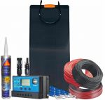 Kit Fotovoltaico Pannello Flessibile 12V 120W Completo di Accessori #N54130200226