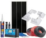 Photovoltaic 12V 100W Kit Complete with Accessories +10A Charge Controller #N54130200231