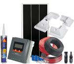Photovoltaic 12V 100W Kit Complete with Accessories +MPPT 20A Solar Charger #N54130200232