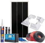 Kit Fotovoltaico 12V 70W Completo di Accessori e Regolatore PWM 10A #N54130200121