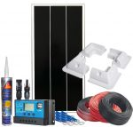 Photovoltaic 12V 70W Kit Complete with Accessories +10A Charge Controller #N54130200121