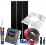 Kit Fotovoltaico 12V 70W Completo di Accessori e Regolatore MPPT 20A #N54130200122