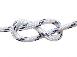 100mt Spool Ø16mm White Double Braid Sinking Mooring Rope #FNI0804216B