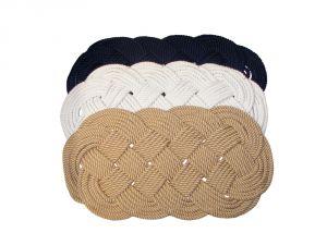 Oval braided rug 600x330mm Hemp colour #FNI0808991C