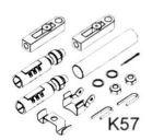 Lever control accessories - K57 - adaptor kit #UT39238E