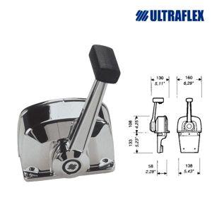 Ultraflex B665 Engine control box Chromed 1 motor #UT40656G