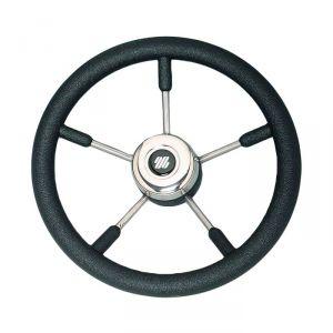 Volante nero V57B Ultraflex 35cm a magnetico in acciaio inox 38115O #N110753206327