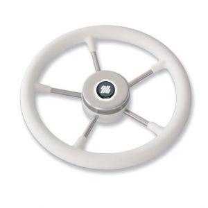 Volante bianco V57W Ultraflex 35cm a magnetico in acciaio inox 38157Q #N110753206329