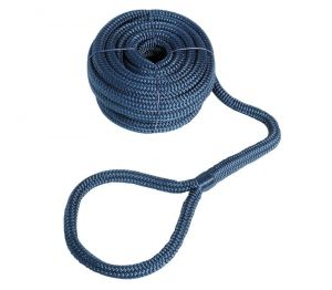 Hgh-strength Mooring Line with eye Line D.24mm L.15mt Ring D. 20cm Blue #OS0644449