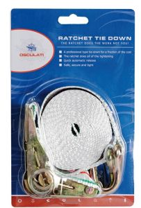 Coloured polyester Ratchet strap with hooks 2mt #N10900903524