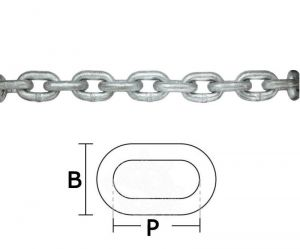 Galvanized steel calibrated chain - D.10mm 150mt #OS0137310-150