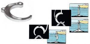 Solid Brass Anchor Retriever Hook D.180mm #OS0110200