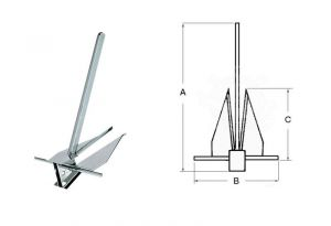 DANFORTH Anchor in AISI 316 Stainless Steel 9 kg #OS0114609