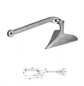 Ancora Plough in acciaio zincato 35kg #OS0114435