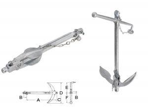 Hot Galvanized Steel Admiralty Anchor 10kg #OS0111410