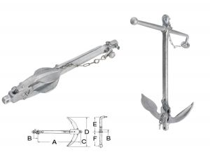 Hot Galvanized Steel Admiralty Anchor 15kg #OS0111415