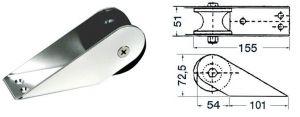 Musone di prua in acciaio inox lucidato - 155x51mm #OS0111882