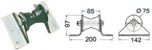 Musone di prua in Acciaio Inox per Delfiniere L.85mm Tipo Grande #OS0111992