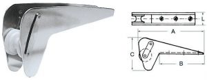 Musone in Inox per Ancore Bruce Trefoil max 20kg Puleggia in Nylon #OS0134220