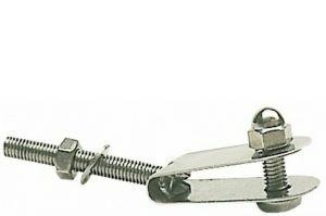 Gancetto in acciaio inox per fissaggio parabrezza Snodato #N10203002717
