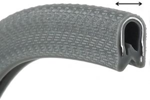 Profilo in PVC - Per spessori 4/6mm - Nero - Venduto al metro #N10203012862