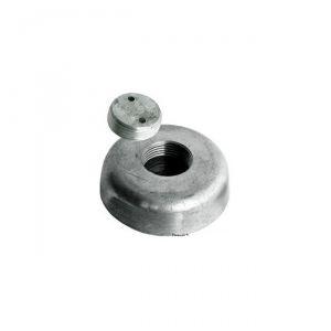 Anodo di Zinco a Rondella con Fissaggio a Scomparsa ∅ 120x35 mm 2,80 Kg #OS4391828