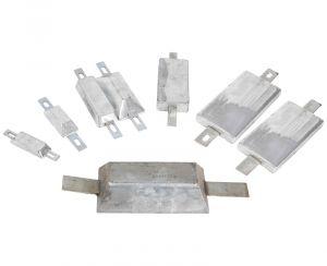 Anodo di Ferro Zincato a Lingotto Rettangolare con Inserto da Avvitare o Saldare 95x34x17 mm 0,26 Kg #OS4390701