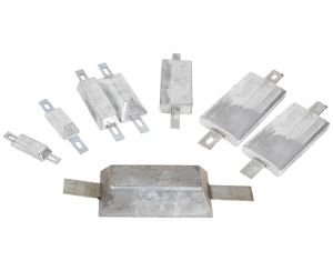 Rectangular Galvanized Iron Anode with Insert for Screw Mounting or Welding 95x34x17 mm 0,26 Kg #OS4390701