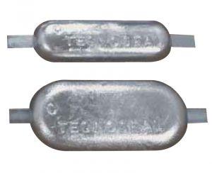 Anodo di Ferro Zincato a Lingotto Ovale con Inserto da Saldare 300x80x40 mm 5 Kg #OS4390707