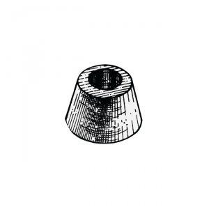 Anodo di Zinco ad Ogiva da Applicare con Bullone ∅ 78x45 mm 1,05 Kg #OS4390100