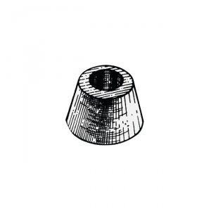 Ogive Zinc Anode ∅ 78x45 mm 1,05 Kg Single-Bolt Mounting #OS4390100