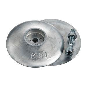Coppia Anodi di Zinco a Rosa per Timoni Flaps ∅50mm 200g Tipo Pesante #OS4359900