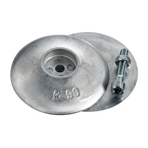 Couple Rudder Trim Tab Zinc Anodes ∅50mm 200g Heavy Type #OS4359900