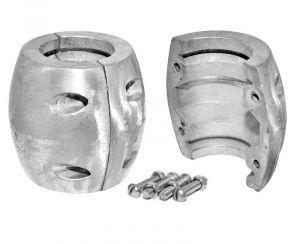 Anodo di Zinco a Bracciale per Asse Elica ∅ 75 mm #OS4380075