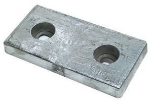 Bolting Zinc Anode Fitted with Rubber Plate 200x100x30 mm 3,80 kg #OS4392004