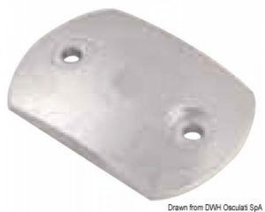 Anodo di Zinco a Piastra Bombata RENAULT MARINE 80x55 mm #OS4360005