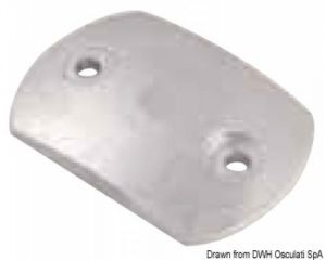RENAULT MARINE Dished Plate Zinc Anode 80x50 mm 0,18 kg #OS4360005