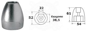 Zinc Ogive Anode 865182 for MERCURY MARINER MERCRUISER Bravo III  #N80607030592